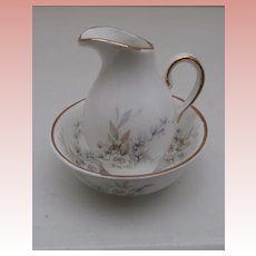 Collectible Crown Stuart Staffordshire Miniature Jug and Basin