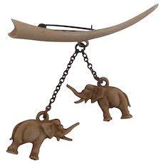 Small Vintage Elephant Brooch