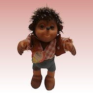 Steiff Macki Hedgehog, Steiff  Button and Label , 1965 to 1967