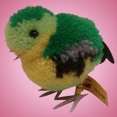 Steiff Wool Bird Steiff Button and Yellow Flag, 1968 to 1983