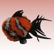 Steiff Orange Wool Coral Fish,Steiff Button 1968 to 1977