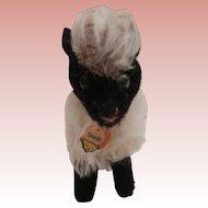 Steiff Snucki Mountain Sheep, Steiff Chest Tag, 1959 to 1964