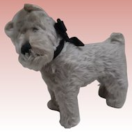 Steiff Tessie Schnauzer Dog 1959 to 1964, Steiff Button, 1959 to 1964