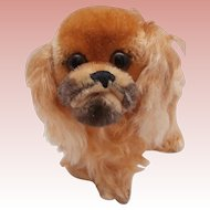 Steiff Peky Pekinese Dog, Steiff Button,1968 to 1976