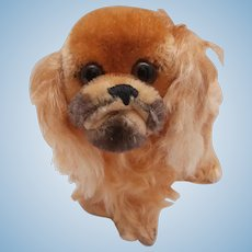 Steiff Peky Pekingese Dog, Steiff Button,1968 to 1976