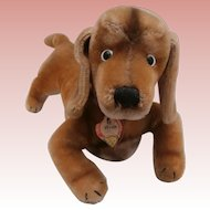 Steiff Large Hexie , Dachshund Dog, 1965 to 1974, Chest Tag