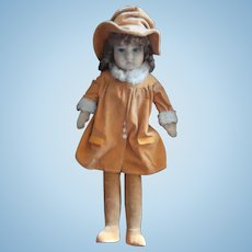 Ethel, Poor Old Chad Valley Flapper Girl Doll, All Original