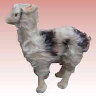 Lovely Larger Llama Lama, Steiff Button 1967 to 1969
