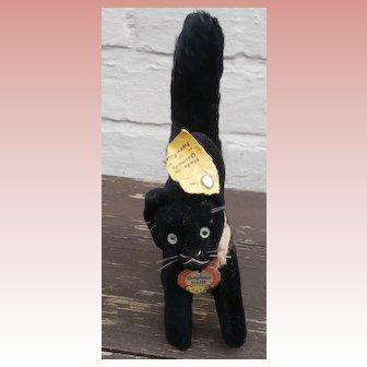 Wonderful Steiff Lucky Black Cat, Tom Cat All Id's 1959 to 1964