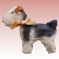 Steiff Terry  Airedale Terrier Dog Small Size 1953 to 1961, Steiff Button