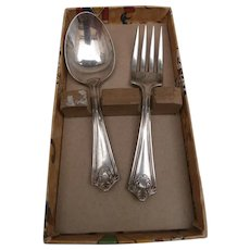Vintage First Spoon and Fork, Great Box, Bunny, Cat ect