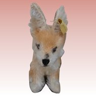 Sweet Smallest Size Steiff Xorry Desert Fox, Steiff Button
