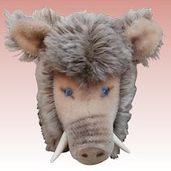 Steiff Dalle Wild Boar 1965 to 1976, No Id's