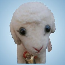 Steiff Lamby Lamb, Steiff Button, Steiff Chest Tag, 1948 to 1958
