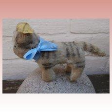 Sweet Well Loved Steiff Tabby Cat, 1958 to 1964, Steiff Button