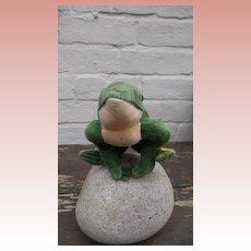 Steiff Froggy Frog, 1968 to 1986. Steiff Button, Flag