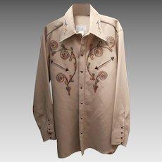 HBARC California Ranchwear Vintage  Mens Shirt Western