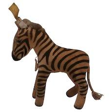 Steiff Zebra,  1959 to 1964, Steiff Button and Steiff Chest Tag