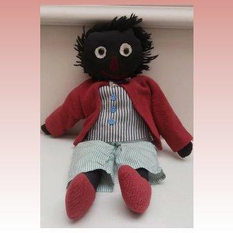 Joshua, Vintage Homemade Golly, Golliwogg Black  Doll