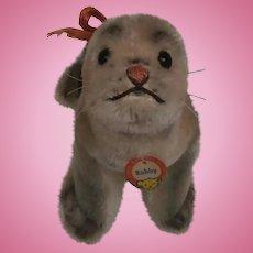 Steiff Robby Seal , 1959 to 1964,  Steiff Button, Steiff Chest Tag