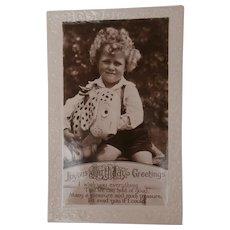 Vintage Dismal Desmond Dog Postcard