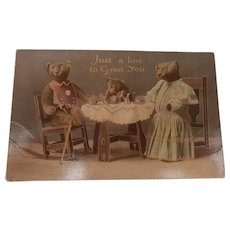 Early Teddy Bear Postcard