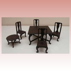 Vintage Dolls House Furniture, Tables and Chairs