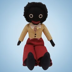 Lovely Vintage Felt Golly, Golliwogg Black Doll