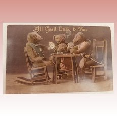 Early Teddy Bear Card, PLaying Cards