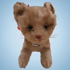 Steiff Tapsy Pussy Cat, 1959 to 1964, Steiff Button