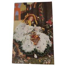 Rare Lenci Lady Boudoir Doll  R 17 Postcard 1930's