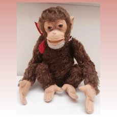 Steiff Jocko Monkey 1959 to 1964, No Id's