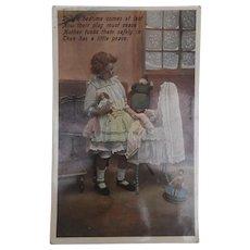 Early Postcard, Steiff Cook Coffee Cosy Doll, Peg Doll, Dolls