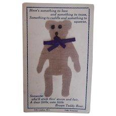 Teddy Bear Postcard. 1910