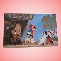 Rare Postcard, Eros Italian Cloth Dolls, 1936