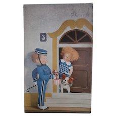 Rare Vintage Lenci Postcard, Steiff Bully Dog 1929