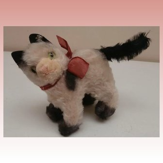 Steiff Gussy Pussy Cat Smallest Size 1959 to 1965, Steiff Button