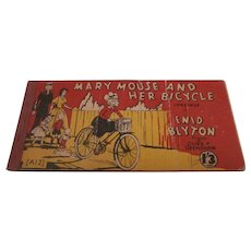 Vintage  Book Mary Mouse And  Her Bicycle