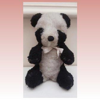 Vintage Panda Bear Makes Jingle Noise