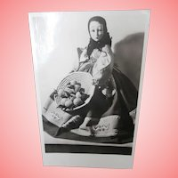 Rare vintage Lenci Boudoir Lady Cloth Doll Postcard