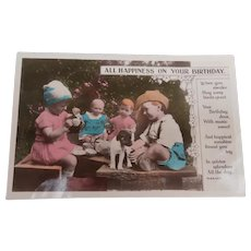 Real Photograph Postcard 1931, Dolls