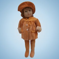 Sally, Sweet Chad Valley Cloth Doll, All Original Clothes