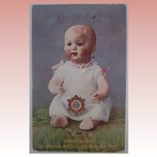 Unusual Advertising Postcard New Character Baby Doll, 1912
