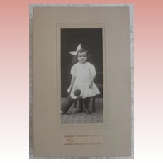 Early Real Photo of Girl and Her Cloth Doll