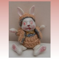 Darling Little  VIntage Celluloid Rabbit Doll, Japan, A/F