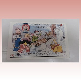 Teddy Tails Postcard 1938