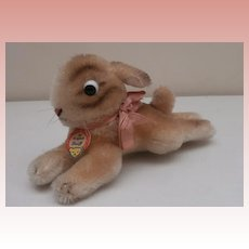 Steiff Lying Bunny Rabbit, 1959 to 1964, Steiff Chest Tag