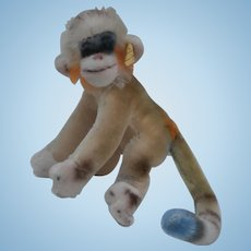 Steiff Mungo  Multicoloured Monkey, Steiff Button and Chest Tag