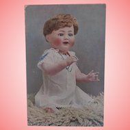 Early Postcard 1915 Bisque Doll. Possibly Advertising Postcard