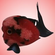 Steiff Red Coral Fish, No Id's 1968 to 1977